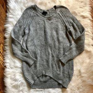 """Heather by Bourdoux"" Light Gray Sweater"